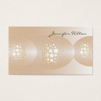 Professional chic golden/bronze confetti ellipse business card
