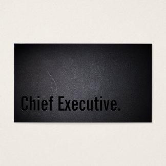 Professional Chief Executive Dark Business Card