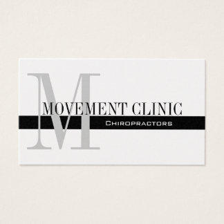 Professional Chiropractic Business Cards Silver