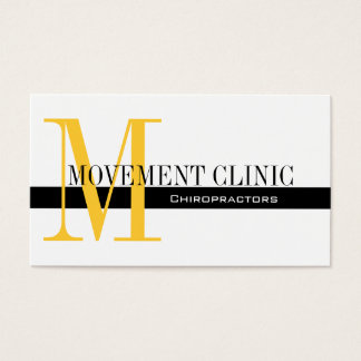 Professional Chiropractic Business Cards Yellow