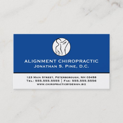 Professional Chiropractic Multiple Appointment Business Card
