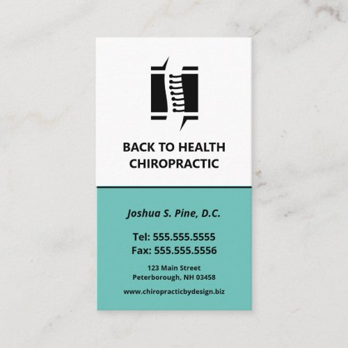 Professional Chiropractor Multiple Appointment Bus Business Card