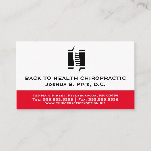 Professional Chiropractor Multiple Appointment Business Card