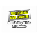 Professional Civil Engineer...Joke Post Card