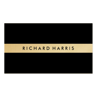 Professional Classic Black ~ Gold Stripe Business Card