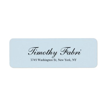Professional Business Professional Classical Script Light Grey Elegant Label
