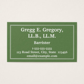 Professional & Classy Barrister Business Card