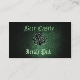 Irish pub business cards zazzle professional classy grunge irish lucky shamrock business card colourmoves
