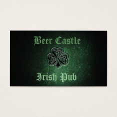 Professional classy grunge Irish lucky shamrock Business Card at Zazzle