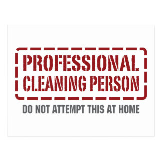 Professional Cleaning Person Postcard