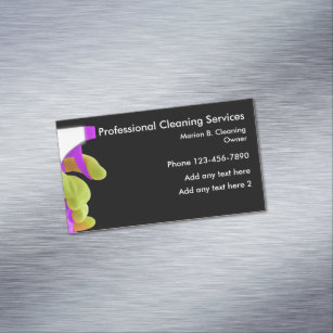Magnetic business cards templates zazzle professional cleaning service magnetic design magnetic business card colourmoves Gallery