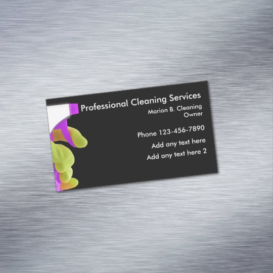 Professional cleaning service magnetic design magnetic business card professional cleaning service magnetic design magnetic business card colourmoves