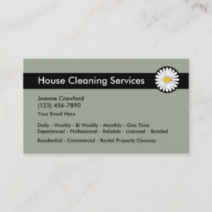 Cleaning services business cards zazzle professional cleaning services business card colourmoves