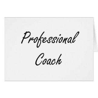Professional Coach Artistic Job Design Stationery Note Card