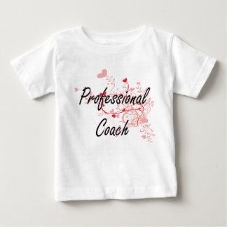 Professional Coach Artistic Job Design with Hearts Tshirt