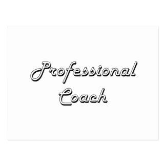 Professional Coach Classic Job Design Postcard
