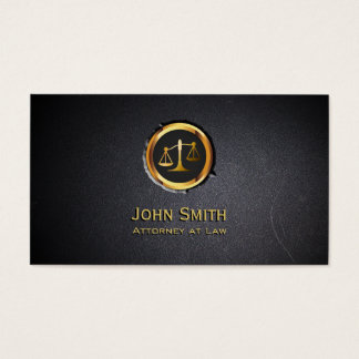 Professional Coal Black Lawyer Business Card