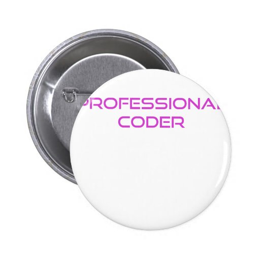 Professional Coder Pinback Buttons
