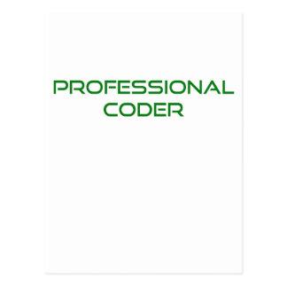 Professional Coder Postcard