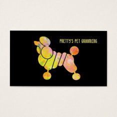 Professional Colorful Poodle Pet Grooming Service Business Card at Zazzle