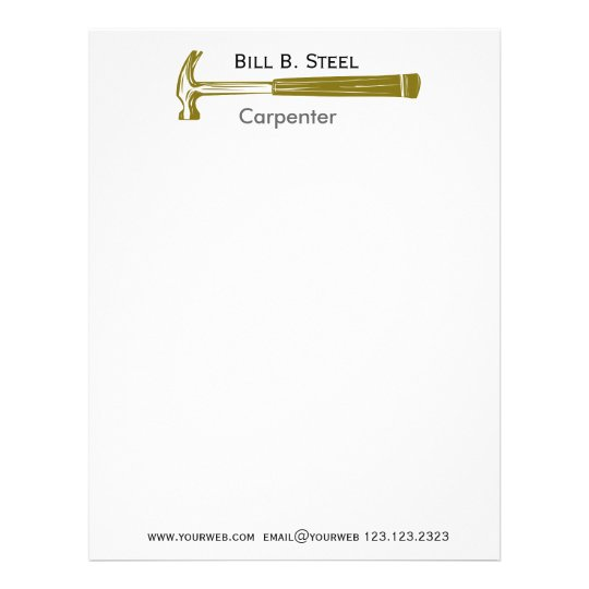 Professional construction builder carpenter letterhead zazzle professional construction builder carpenter letterhead thecheapjerseys Choice Image
