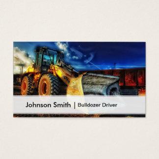Professional Construction Bulldozer Driver Business Card