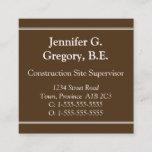 [ Thumbnail: Professional Construction Site Supervisor Card ]
