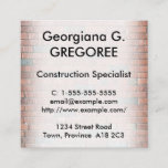 [ Thumbnail: Professional Construction Specialist Business Card ]