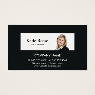 Professional Consultant Add Photo Business Card