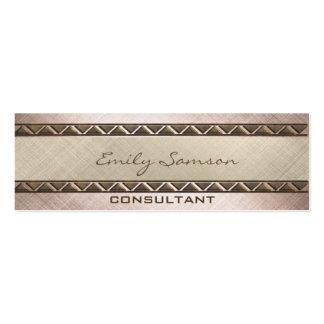 Professional contemporary metal look texture plain mini business card