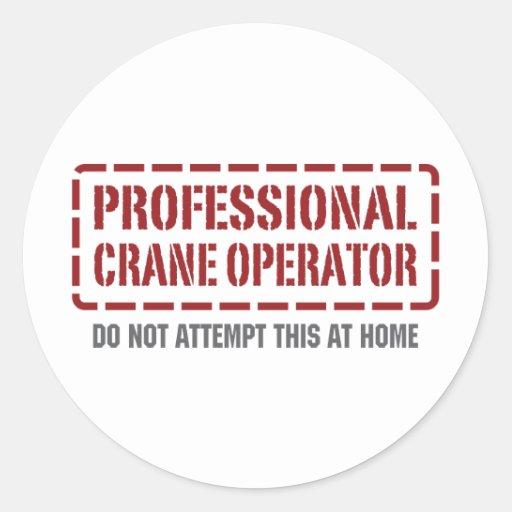 Professional Crane Operator Sticker