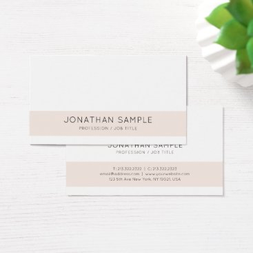 Professional Creative Design Company Modern Plain Business Card