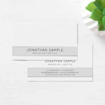 Professional Creative Design Gray Company Plain Business Card