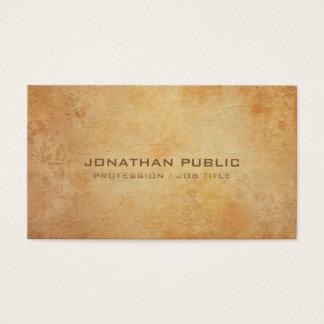 Professional Creative Historical Plain Luxury Business Card