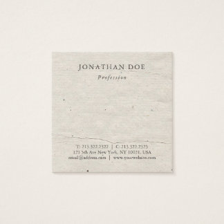 Professional Creative Vintage Historical Used Look Square Business Card