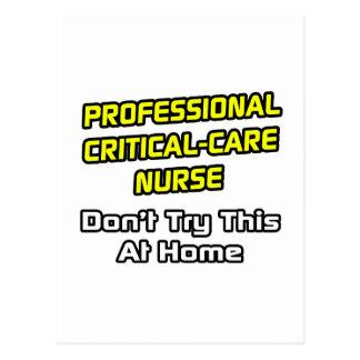 Professional Critical-Care Nurse .. Joke Postcards