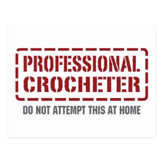 Professional Crocheter Postcard