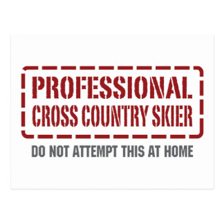 Professional Cross Country Skier Postcard