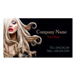 Professional Curly Blonde Hair Stylist Card