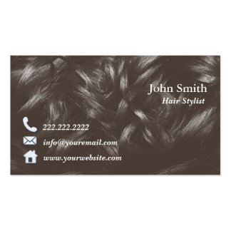 Professional Curly Hair Hairstylist Business Card