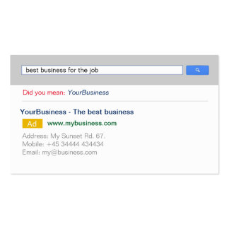 Google Search Business Cards & Templates