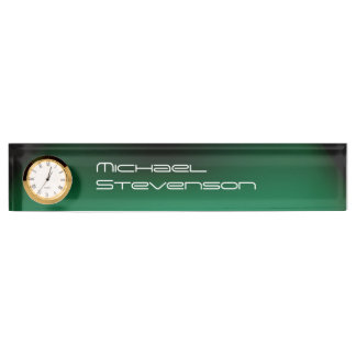 Professional Customize Text Nameplate with Clock