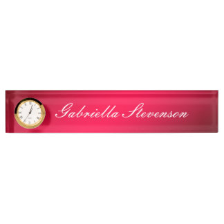 Professional Customize Text Red Handwriting Desk Name Plate
