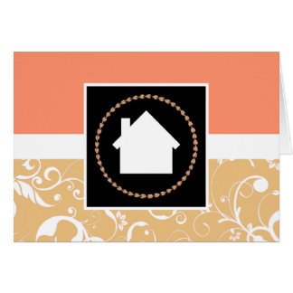 professional damask home card