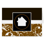 professional damask home greeting card