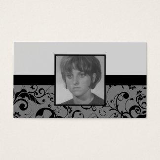professional damask memorium card