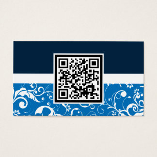 professional damask QR code Business Card