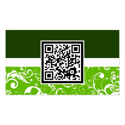 professional damask QR code Business Card