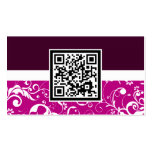 professional damask QR code Business Cards