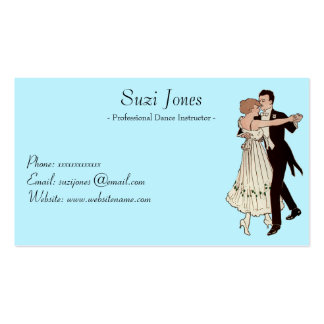 Professional Dance Instructor - Dancing Couple Double-Sided Standard Business Cards (Pack Of 100)